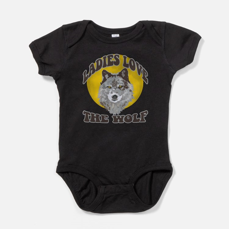 Cute One man wolf pack Baby Bodysuit