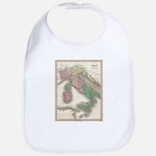Vintage Map of Italy (1827) Bib