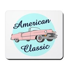 American Classic Cadillac in pink Mousepad