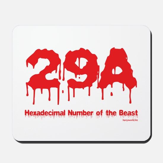 Hex Number Mousepad