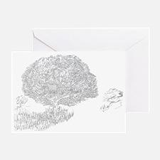 Beneath the old tree Greeting Card