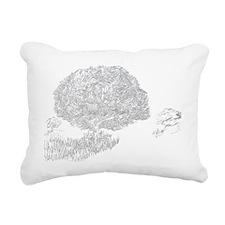 Beneath the old tree Rectangular Canvas Pillow