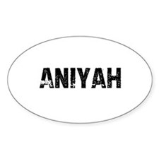 Aniyah Oval Decal