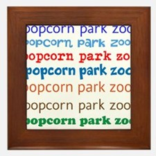 POPCORN PARK ZOO LETTERING. Framed Tile