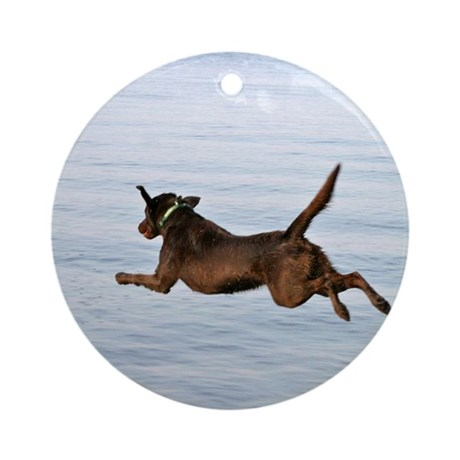 Chocolate Lab Remi Ornament (Round)