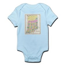 Vintage Map of Indiana (1827) Body Suit