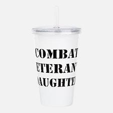 Combat Vet's Daughter Acrylic Double-wall Tumbler
