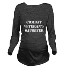Combat Vet's Daughter Long Sleeve Maternity T-Shir