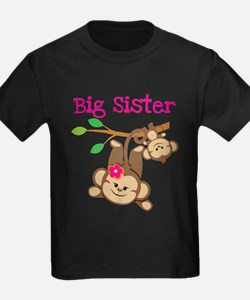 Monkey Big Sis Baby Bro T-Shirt
