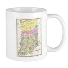 Vintage Map of Indiana (1827) Mugs