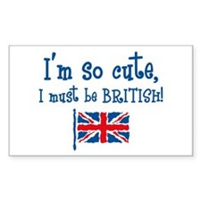 So Cute British Rectangle Decal