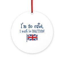 So Cute British Ornament (Round)