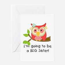Owl Future Big Sister Greeting Cards