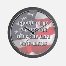 Proud To Be Right Wall Clock