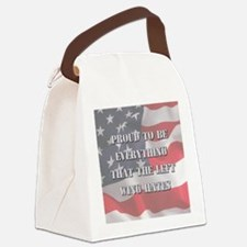 Proud To Be Right Canvas Lunch Bag
