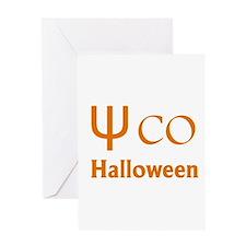 Psycho Halloween, Greek Letter Greeting Cards