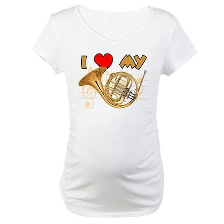 I *HEART* My French Horn Maternity T-Shirt