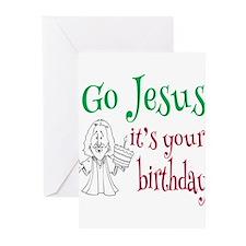 Go Jesus It's Your Birthday Greeting Cards