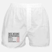 Diesel Mechanic Repair Rates Boxer Shorts