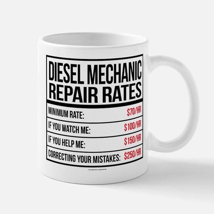 diesel mechanic coffee mugs diesel mechanic travel mugs cafepress. Black Bedroom Furniture Sets. Home Design Ideas