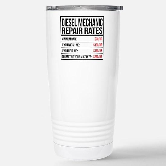 Diesel Mechanic Repair Stainless Steel Travel Mug