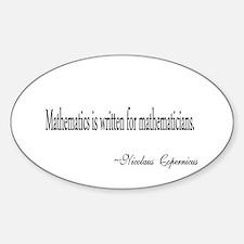 Mathematics for Mathematicians Decal