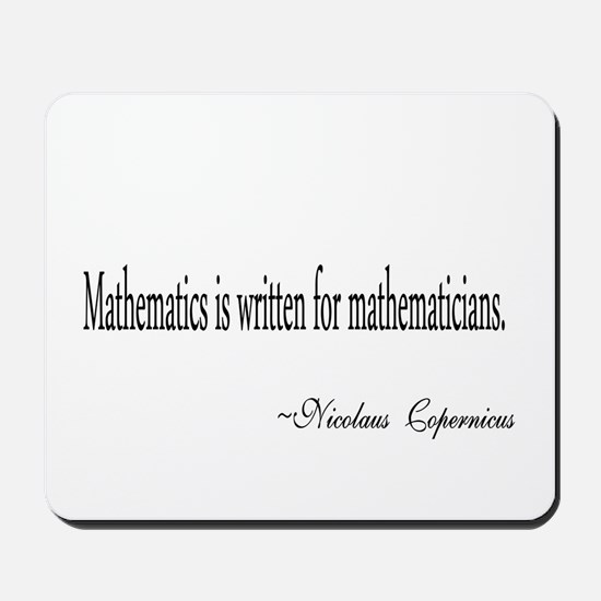 Mathematics for Mathematicians Mousepad