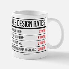 Web Design Rates Mugs