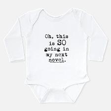 Unique Writing Long Sleeve Infant Bodysuit