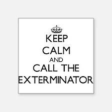 """Unique Exterminate Square Sticker 3"""" x 3"""""""