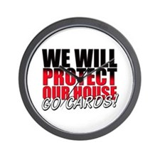 Protect Our House Wall Clock