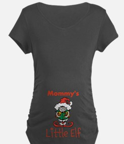 Mommy's Little Elf Maternity T-Shirt