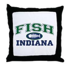 Fish Indiana Throw Pillow