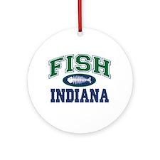 Fish Indiana Ornament (Round)