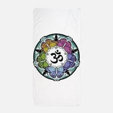 Peaceful Yoga Om Beach Towel