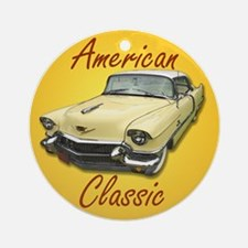 American Classic Cadillac Deville Round Ornament