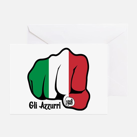 Italian Fist 1928 Greeting Cards (Pk of 10)