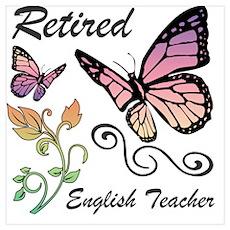 Retired English Teacher Poster