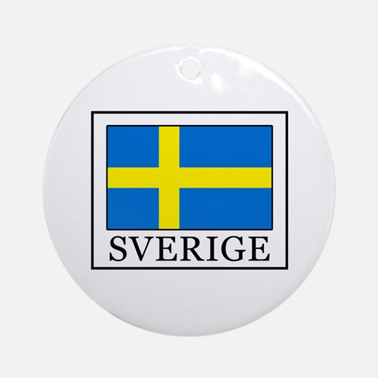 Sverige Round Ornament