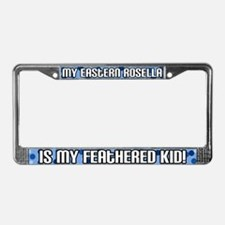 Eastern Rosella Feathered Kid License Plate Frame
