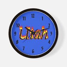 Utah Flame Wall Clock