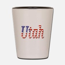 Patriotic Utah Shot Glass