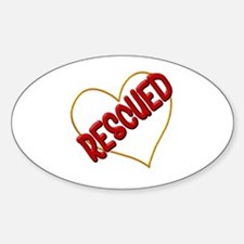 Rescued Heart Decal