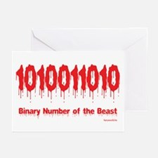 Binary Number Greeting Cards (Pk of 20)