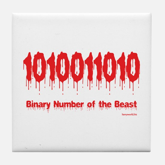 Binary Number Tile Coaster
