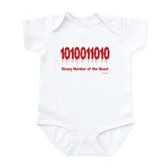 Binary Number Infant Bodysuit