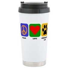 Cute Dog print on heart Travel Mug