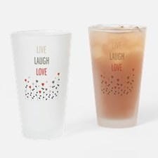 Cute Live laugh love Drinking Glass