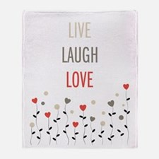 Unique Live laugh love Throw Blanket