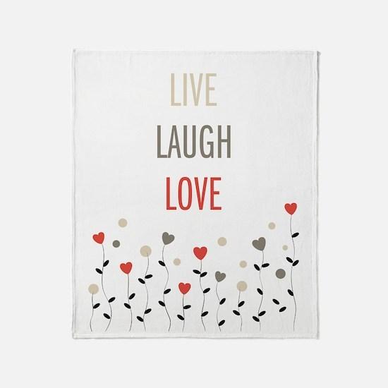 Cute Live laugh love Throw Blanket